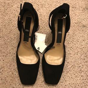 NEW Zara black heels 38